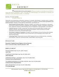 Non Profit Resume Samples by Non Profit Resume Examples And Operations Executive Resume