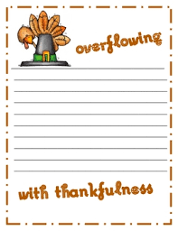 thanksgiving writing paper activities