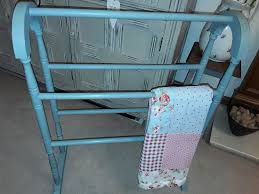 Shabby Chic Bath Towels by Shabby Chic Woodentowel Rail Annie Sloan Duck Egg Blue In Home