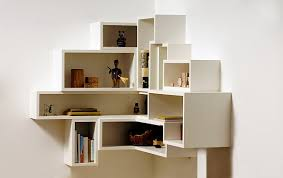 Wall Corner Shelves by Wall Mounted Shelving Units For Books