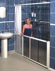 Disabled Half Height Shower Doors Assisted Showering Independent Living