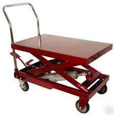 500 lb hydraulic lift table cart