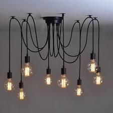 Edison Pendant Light 10 Vintage Chandelier Adjusted Diy Ceiling Lamp Kitchen Edison