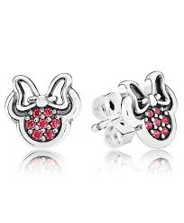 minnie mouse earrings pandora minnie mouse sparkling earrings 290580czr on sale