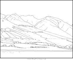 Coloriage Montagne  Les beaux dessins de Nature à imprimer et