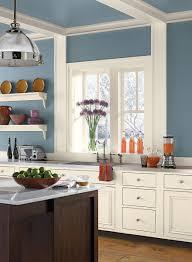 blue kitchen ideas bold blue kitchen paint colour schemes