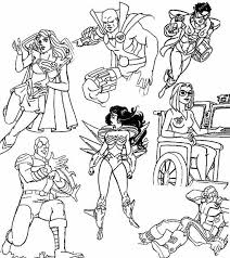 superheroes coloring pages laura williams