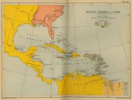 Central America And The Caribbean Map by West Indies In 1763 Full Size