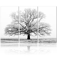 aliexpress buy black and white tree picture painting canvas