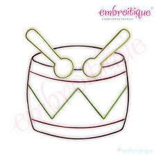 embroitique simple christmas drum embroidery design small