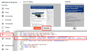 how to add a mobile responsive drop down menu in blogger