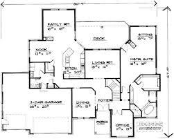 5 bedroom 1 house plans floor plan around houses mobile single ranch one garage design
