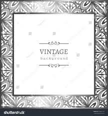 vintage silver photo frame ornamental border stock vector