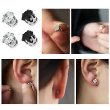 mens earring studs black magnetic earrings men ebay