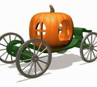 pumpkin carriage pumpkin carriage 3d models to print yeggi
