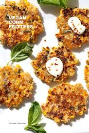 basil jalapeno corn fritters gluten free vegan richa