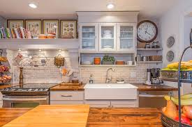cottage kitchens ideas cottage kitchen with raised panel wood counters zillow digs