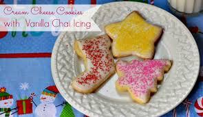 cream cheese christmas cookies with vanilla chai tea icing