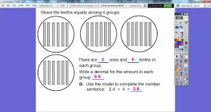 divide decimals by whole numbers lesson 5 2 youtube