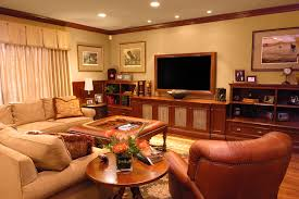 Console Bookshelves by Low Profile Media Console Home Theater Traditional With Bookcase