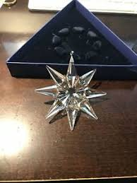 2009 swarovski annual snowflake ornament with box ebay
