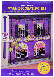 halloween background or backdrop decoration amazon amazon com mardi gras party scene setters wall decorating kit 65