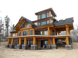 Slokana Log Home Log Cabin Beautiful Round Log Post And Beam Using Natural Flared Cedar