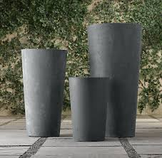 restoration hardware cast stone planters for the top of the