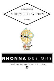 Side Designs Dlolleys Help Rhonna Suite App Tutotiral Side By Side Patterns