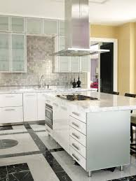 Metallic Tile Backsplash by Kitchen Modern Interior Kitchen Design Feature Silvered