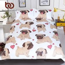 beddingoutlet hippie pug bedding set queen size animal cartoon bed