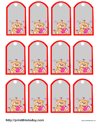 teddy bear baby shower favor tags