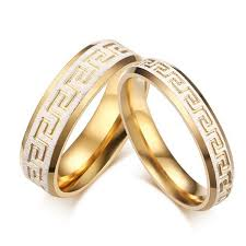 old wedding rings images Vintage wedding bands rings for love reek key pattern gold old jpg