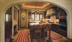 splendid rustic french country kitchens with false ceiling kitchen