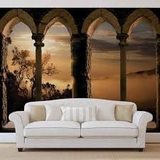 Wall Mural Sunrise In A Forest Wall Paper Self Adhesive Wall Mural Photo Wallpaper Xxl View Sunrise Fog Mountain Tree