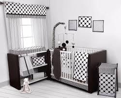 Black And White Crib Bedding Set Bacati Dots Pin Stripes Black White 10 Pc Crib Set Including