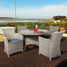 Patio Furniture Sets Uk - oseasons eden 4 seater dining furniture set in champagne