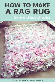 How To Make Handmade Rugs How To Make A Diy Rag Rug Using Old Bedding Learning Craft