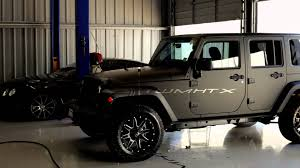 Matte Black Jeep Wrangler Unlimited With Fuel Off Road Wheels