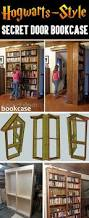 Building A Bookshelf Door Hogwarts Style Secret Door Bookcase For Book Lovers Cute Diy