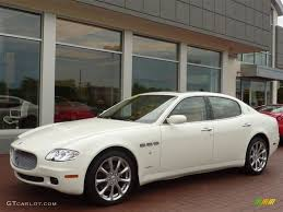 white maserati sedan bianco white 2007 maserati quattroporte executive gt exterior