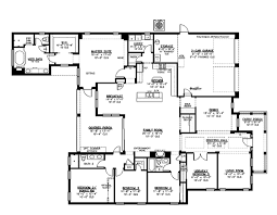 5 bedroom house floor plans designs house plans