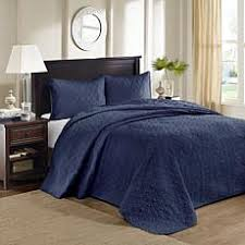 Navy Quilted Coverlet Quilts U0026 Coverlets Hsn