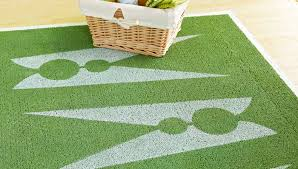 Rattan Rug Stenciled Laundry Room Rug