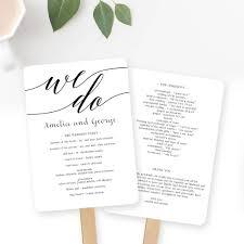 Cheap Wedding Program Fans Wedding Program Fan Or Flat Wedding Program Templates Printable
