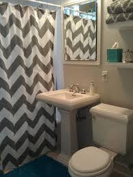 chevron bathroom ideas teal and grey bathroom home decoration