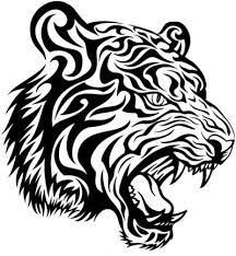 classic tribal tiger head tattoo design tattooimages biz