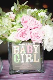 baby shower flower centerpieces london s pink baby shower with flower arrangements featuring the
