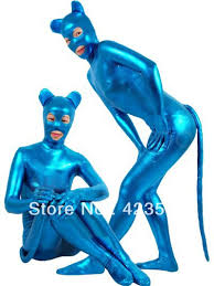 Midna Halloween Costume Aliexpress Buy Shiny Metallic Blue Catwoman Costume