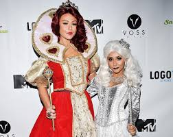 alice in wonderland white witch halloween costume snooki and jwoww photos stars on halloween 2013 ny daily news